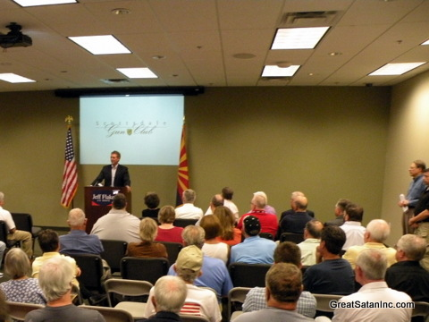 Rep. Jeff Flake, NRA Endorsement press conference at Scottsdale Gun Club