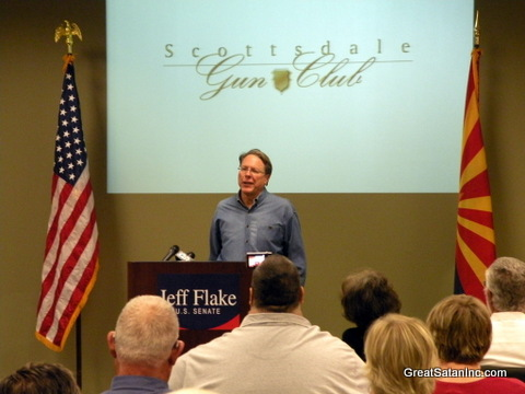 NRA Executive Vice President Wayne LaPierre annoucing NRA endorsement of Jeff Flake for Senate