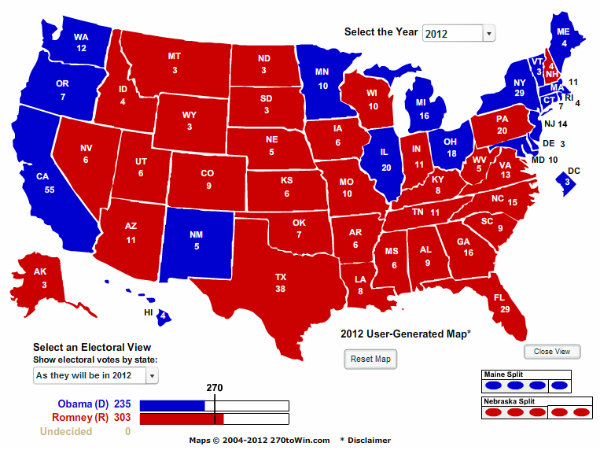 2012 election predictions