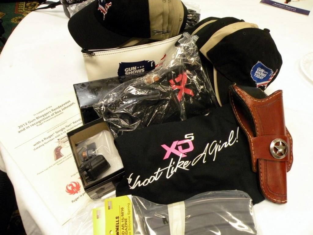 2012 Gun Blogger Rendezvous raffle prizes won.